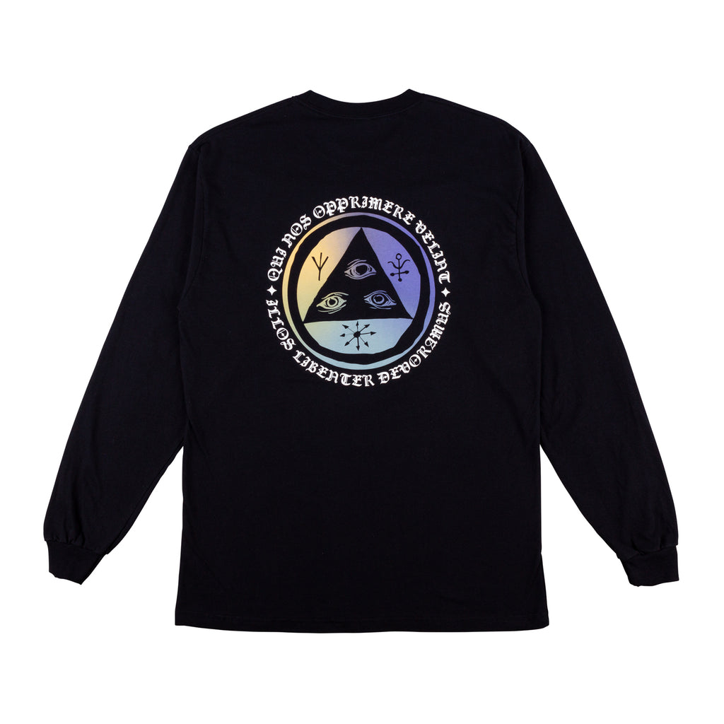 Latin Talisman Premium Long Sleeve Tee - Black/Sunset