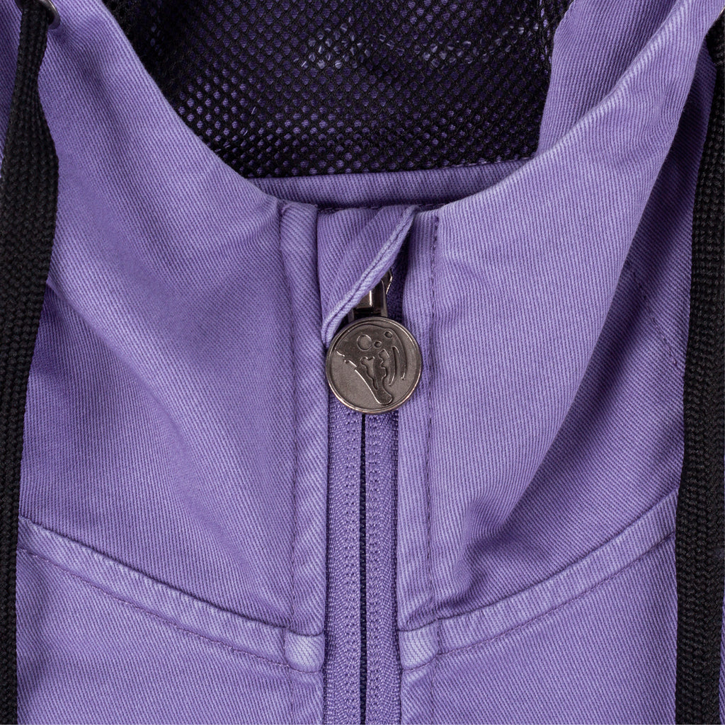 Scrawl Garment-Dyed Twill Anorak - Purple