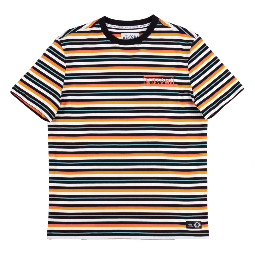 Surf Stripe Yarn-Dyed Short Sleeve Knit - Sunrise