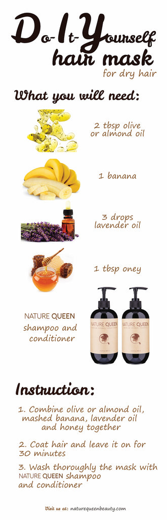 Winter dry hair diy mask masque