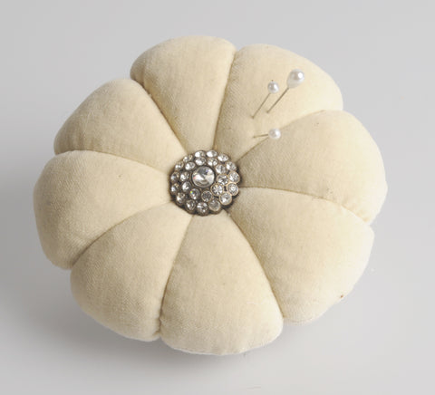 Pin cushion. Velvet pincushion