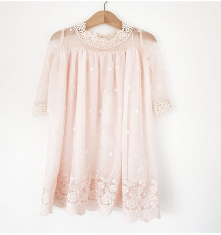 Angel lace baby dress.