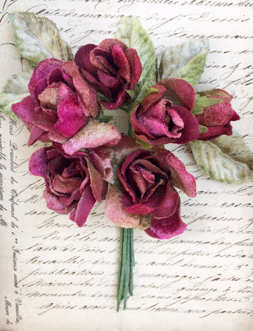 Rose Posy. English Rose Posy.