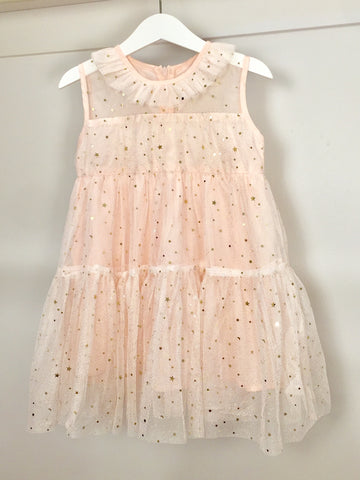 Twinkle Twinkle Little Star dress . Pale pink.