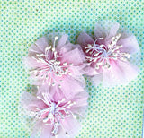 Fairy flower child`s brooch set / hairclips . Pink.