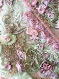 Embellishment Pack. Marie Antoinette Pink and Green.