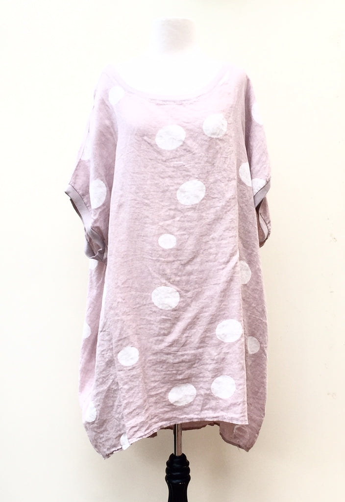 Rosabella dress. Pink Polka dot