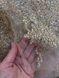 Gold Glittered Lace ... wide scalloped edging