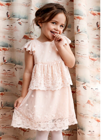 Blossom Baby lace dress. Blush