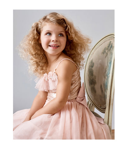 Giselle tutu dress. peach.
