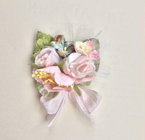 Rose Posy slide/brooch