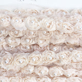 rosebud trim with pearls . vanilla