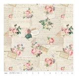 Rose & Violet`s Garden fabric . Garden Party . Parchment