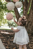 Sugar Plum Baby lace dress. Ivory