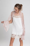 French Lace Scarf. Blush