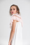 Tulle Ruffled Collar . Pink