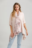 Floral Cotton Scarf.  Tearose