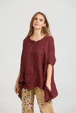 Linen Sorrento top. Wine