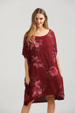 Rosabella linen top . Mulberry Wine