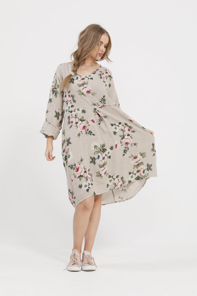 Amelia linen dress. Seamist