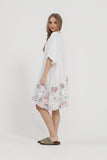 Fleur Linen Dress. White Rose