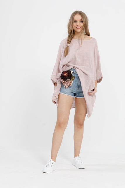 Camilla Top. Pale Pink.