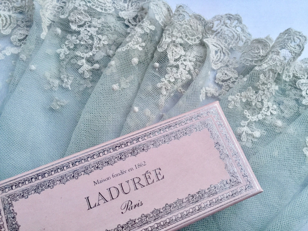 cotton Lace in Marie Antoinette French Blue
