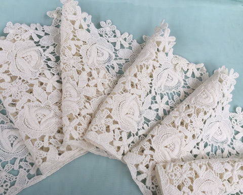 Guipure ivory lace