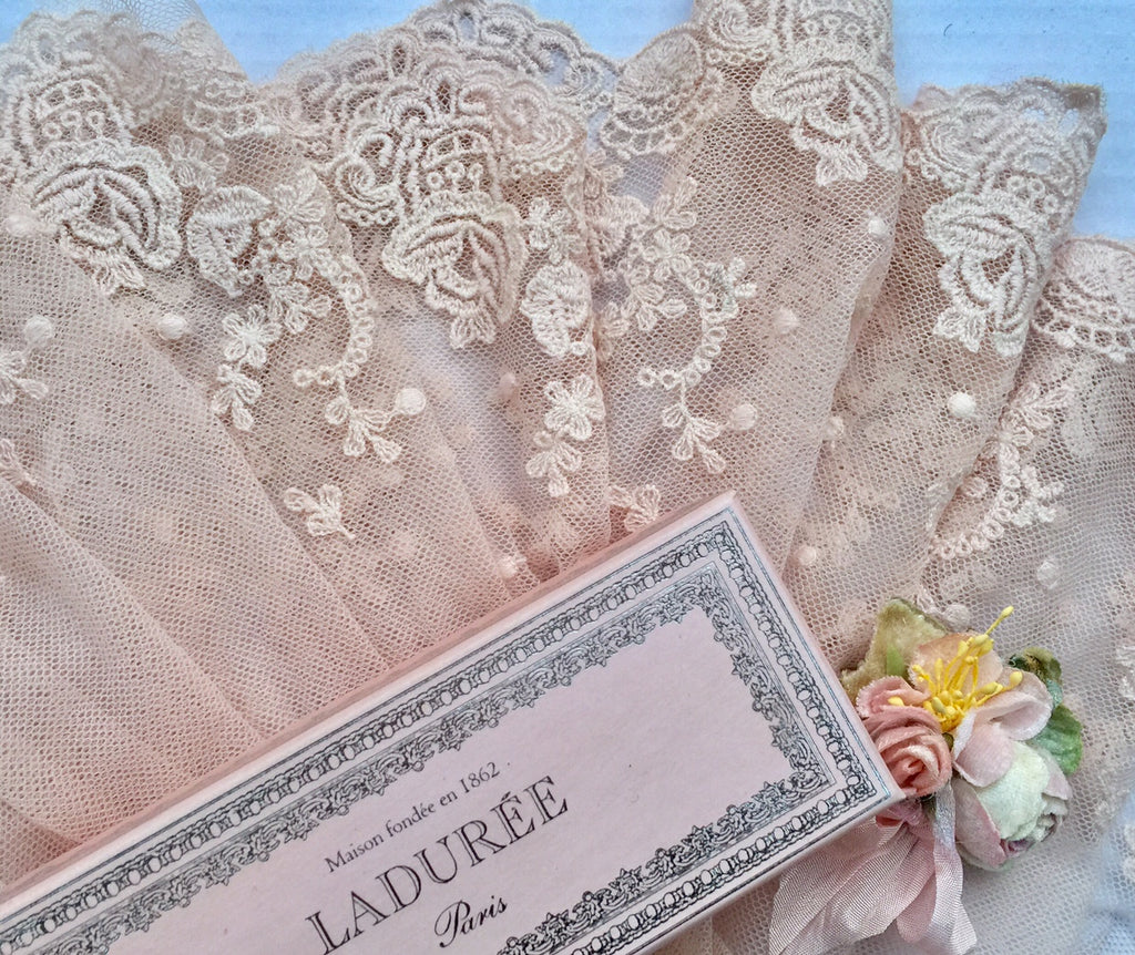 cotton Lace in Marie Antoinette Pink