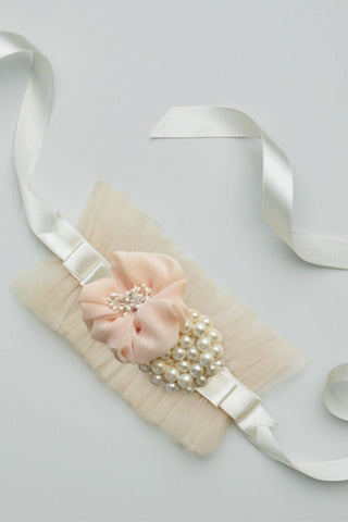 Whimsy Belt Cream. satin sash. wedding accessory.