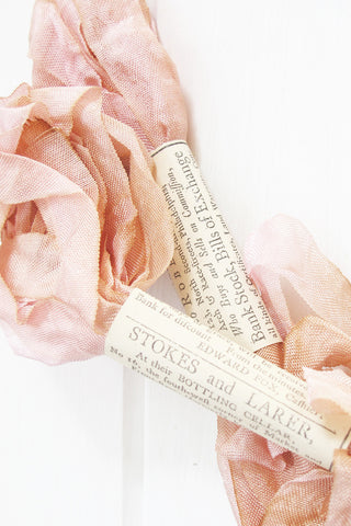 Silk Ribbon in Marie Antoinette Pink