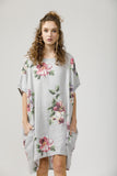 Linen Rosabella Dress. Tearose