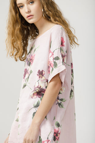 Contessa Linen Floral top.  Tearose