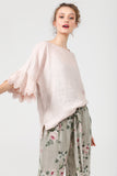 Ellie lace ruffled sleeve top.