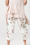Eva floral pants . cream