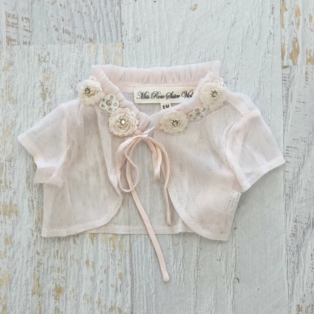 Baby and child Pixie Capelet. Blush.