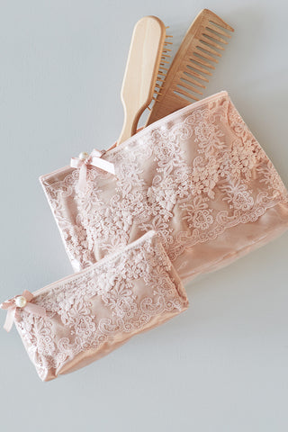 Lace Cosmetic Purse Large (Plastic coated)