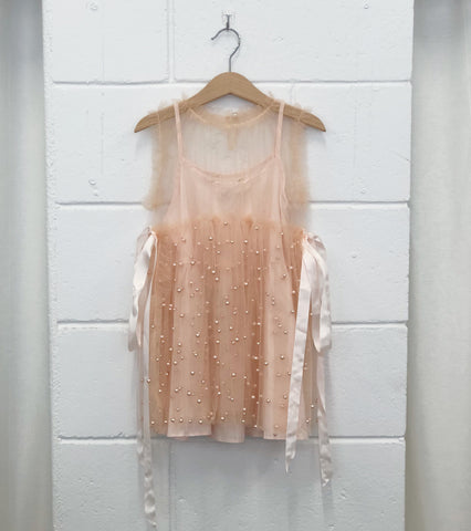 Princess Pearl dress. Blush