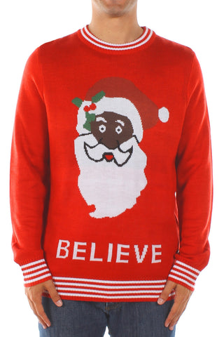 African America Santa Ugly Christmas Sweater Sourceopolis