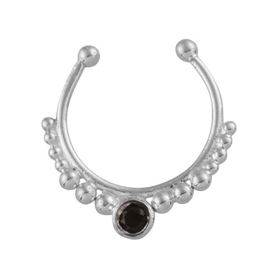 Stone Beaded Septum Ring - Midsummer Star  - 1