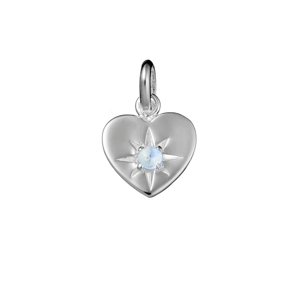 Enchanted Heart Moonstone Neck Charm