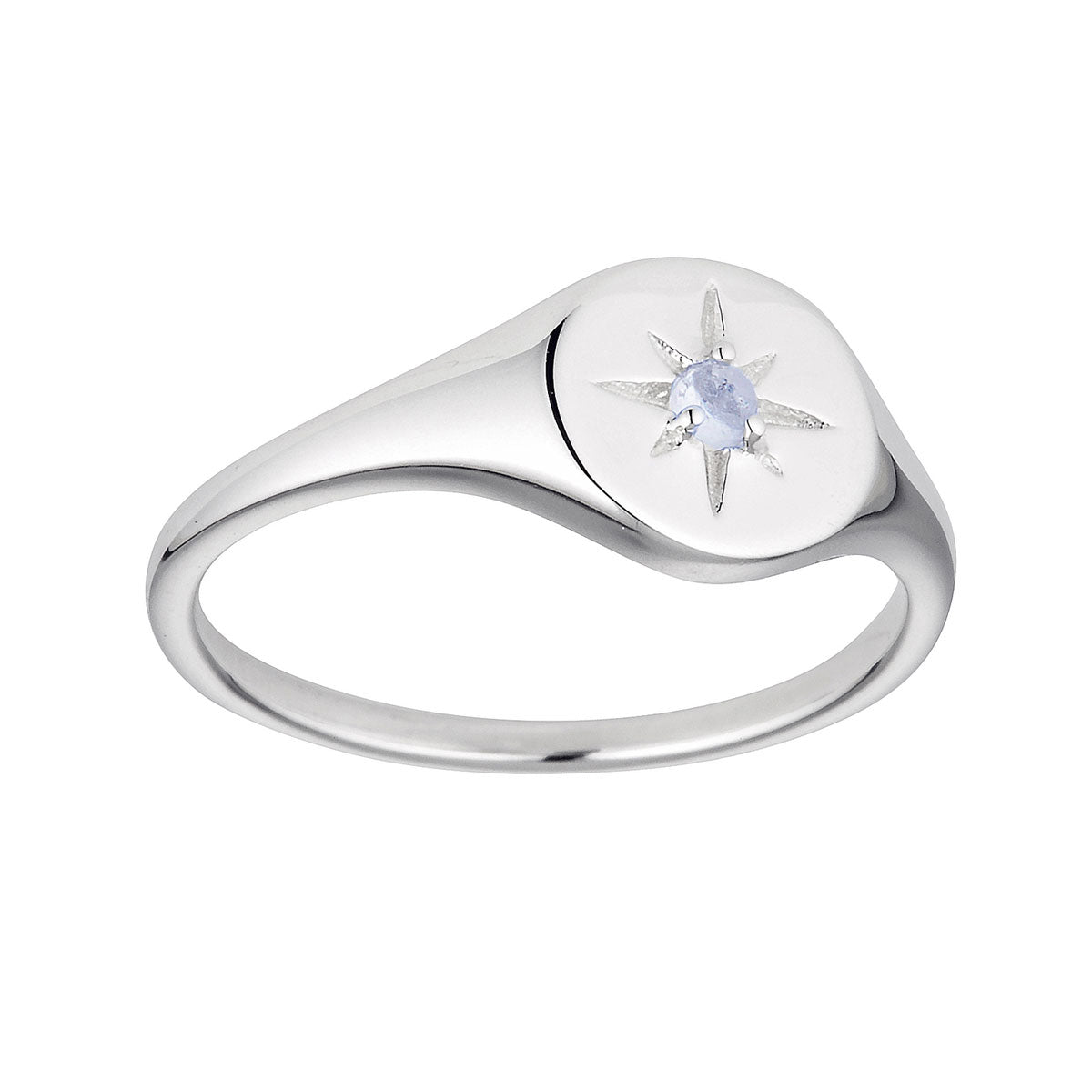 Delicate Enchanted Light Signet Ring