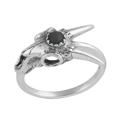 Third Eye Ram Skull Ring - Midsummer Star  - 1
