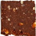 Chocolate Almond Cacao Crunch KETO Bar out of wrapper