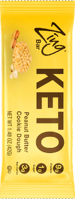Peanut Butter Cookie Dough KETO Bar in wrapper