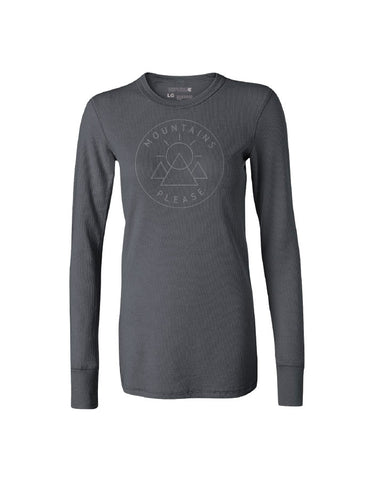 Mountains Please Thermal - Women - Charcoal