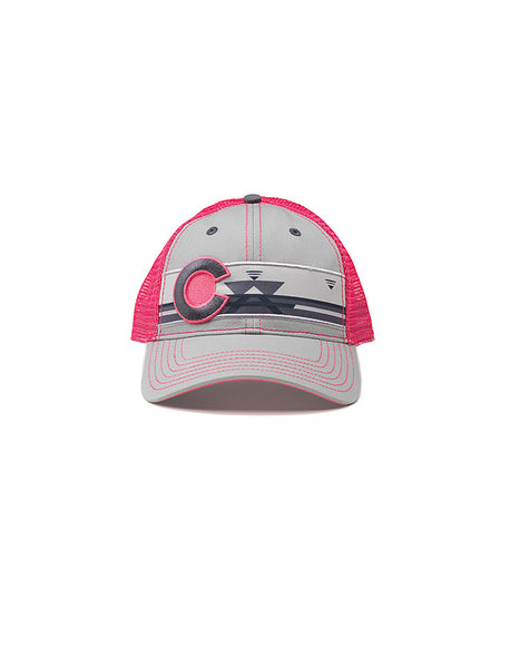 Camping Colorado Hat - Pink / Grey