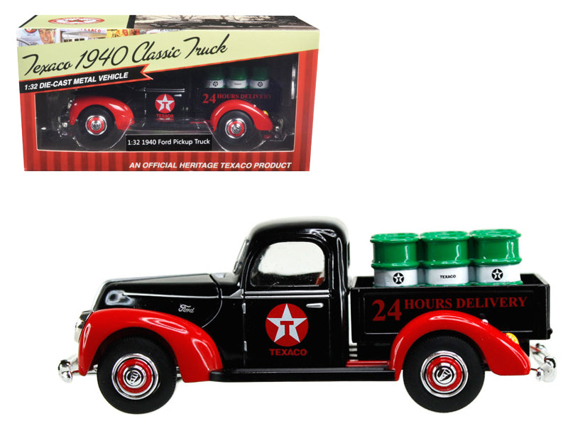1940 Ford Pickup Truck 'Texaco' with Oil Barrels 1/32 Diecast Model Car by Beyond Infinity - BeTovi&co