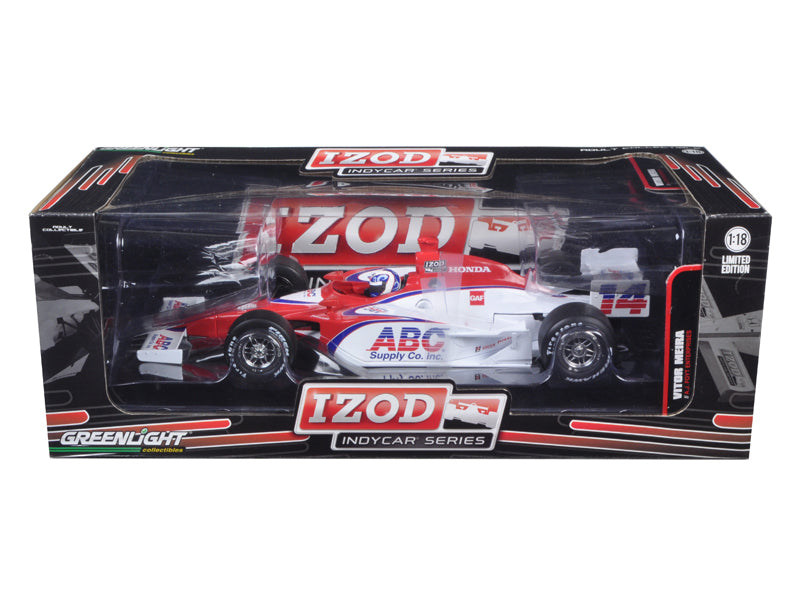 2011 Izod Indy Car #14 Vitor Meira A.J. Foyt Racing 1 of 1008 Produced Worldwide 1/18 Diecast Model Car by Greenlight - BeTovi&co