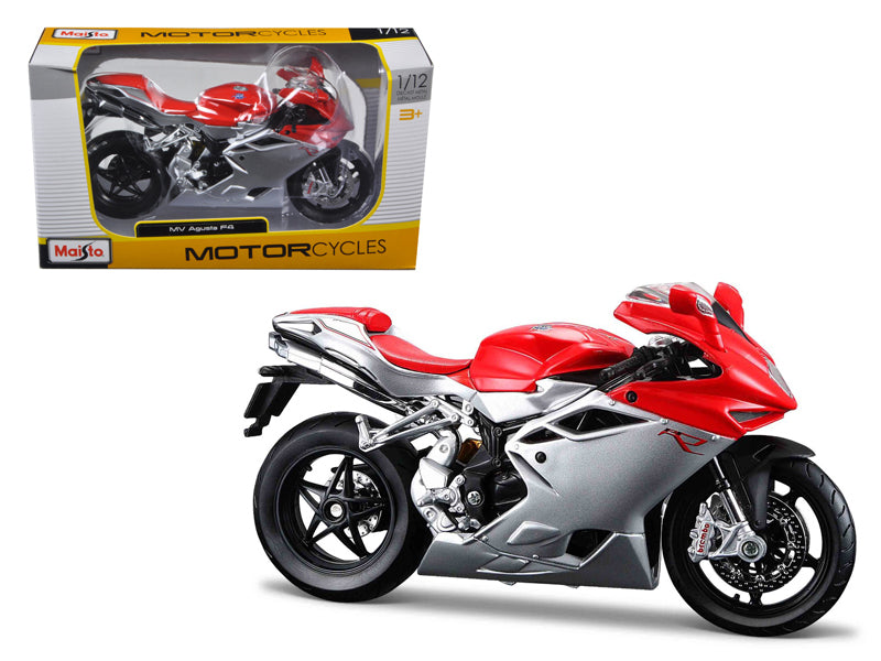 2012 MV Agusta F4 Red/Silver Bike 1/12 Motorcycle Model by Maisto - BeTovi&co